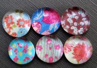 Glasspebble magnets