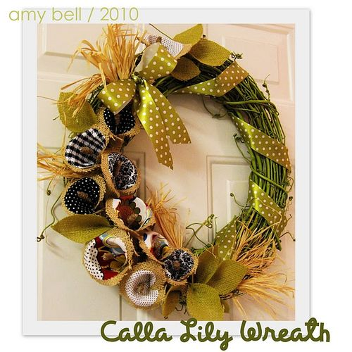 Call lily wreath
