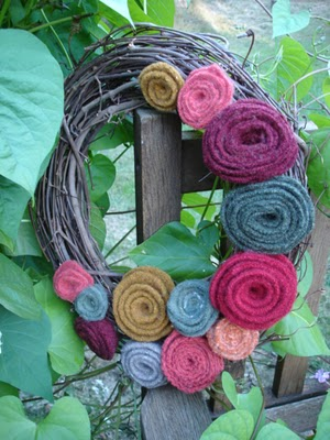 Rosy Fall Wreath
