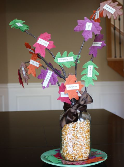 Gratitude Tree - Yesterday on Tuesday #thanksgiving