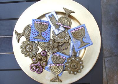 Hannukah Decorations from Baker's Clay