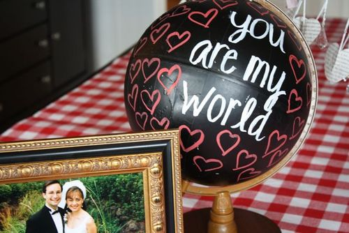 Chalkboard Globe  - Yesterday on Tuesday #chalkboard #chalkboardpaint