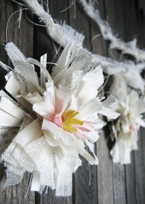 Crepe flower garland