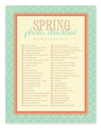 Springphotochecklist
