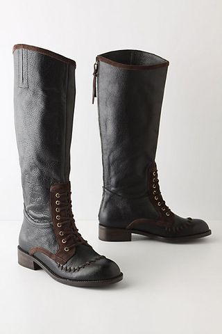 Whipstitched riding boots