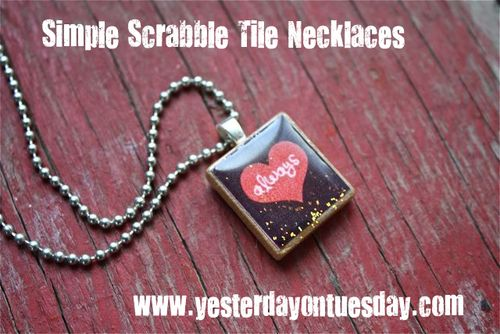Simple scrabble tile pendant necklaces yesterday on tuesday scrabbletilenecklace aloadofball Image collections