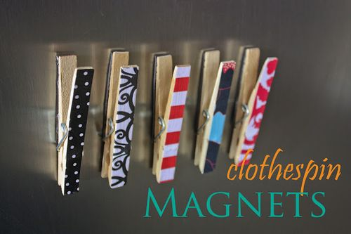 Clothspin magnets