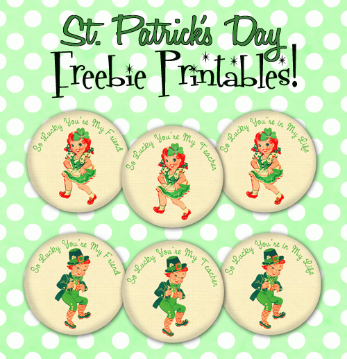 St. Patrick's Day FREE Darling Printables