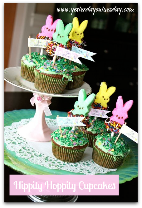 Whimsical Bunny Cupcakes for Easter, great project for kids #easter