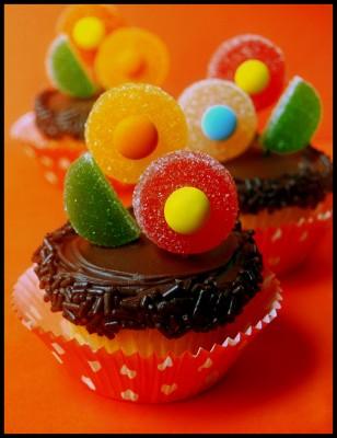Flower-cupcake