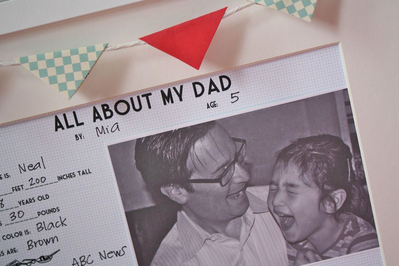 Vintage YoT: All About My Dad Printable Freebie Gift