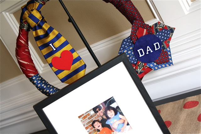 Dad's Necktie Wreath