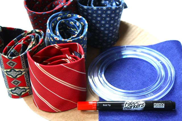 Necktie Wreath Supplies
