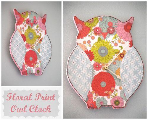 Floral-Owl-Clock