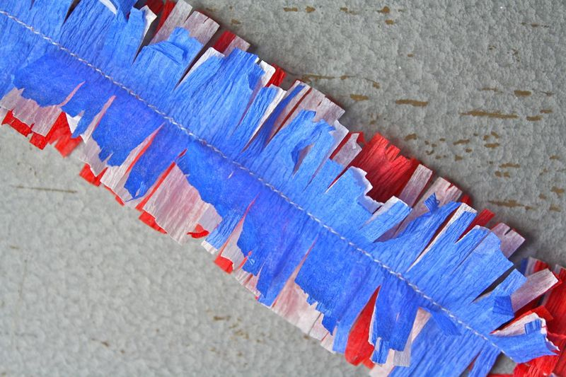 How To Make Crepe Paper Christmas Decorations : Vintage yot patriotic crepe paper decorations yesterday
