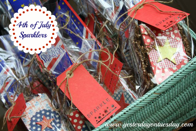 Vintage YoT: Patriotic Sparkler Party Favors