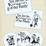 Free bowling themed Father's Day Party Printables