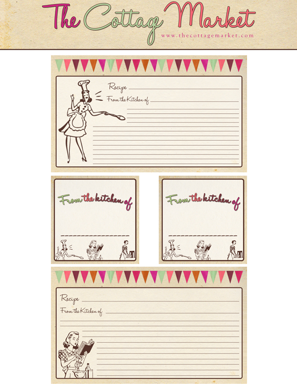 Free recipe cards from the cottage market