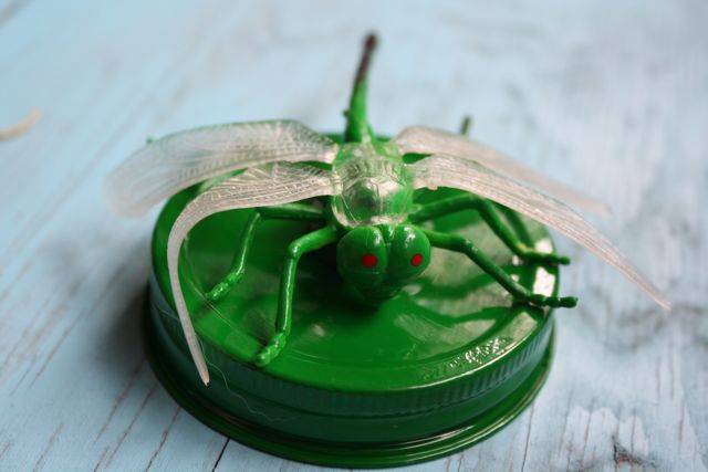 Green Bug Magnetic Bug Lids - Yesterday on Tuesday