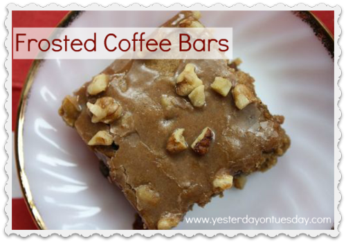 Yesterday on Tuesday-Frosted Coffee Bars