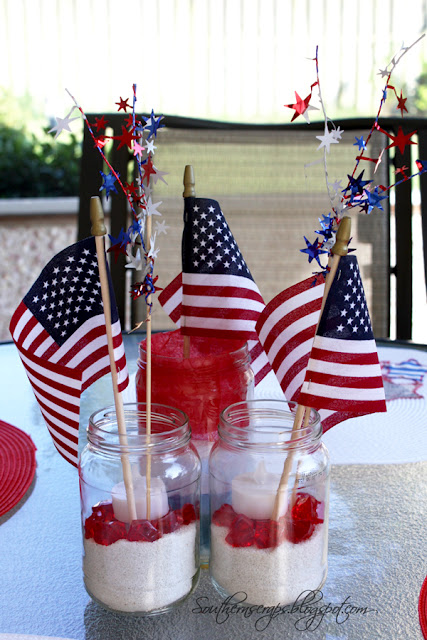 Patriotic Jar Centerpiece