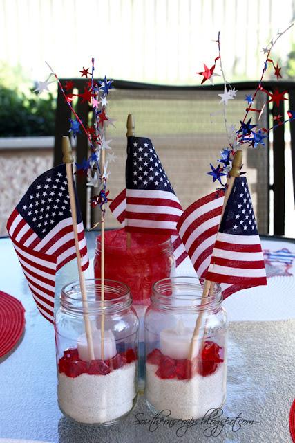 Patriotic Jar Centerpiece