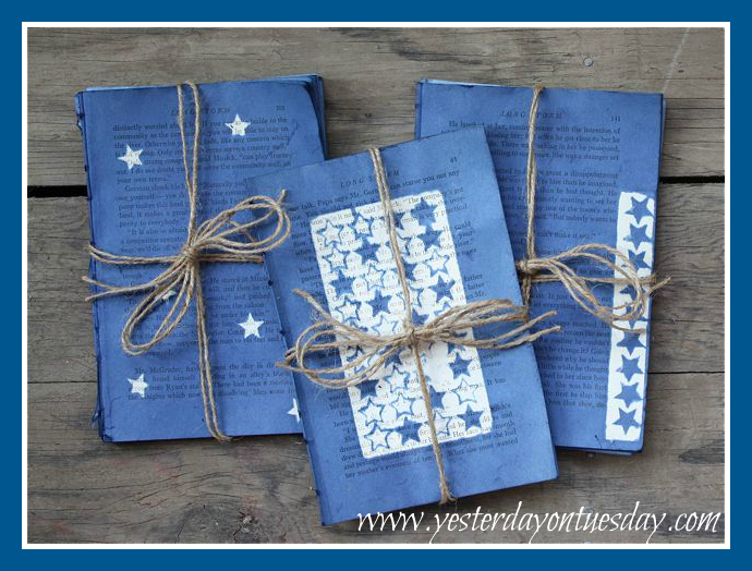 Starry Night Dyed Book Pages Three Designs