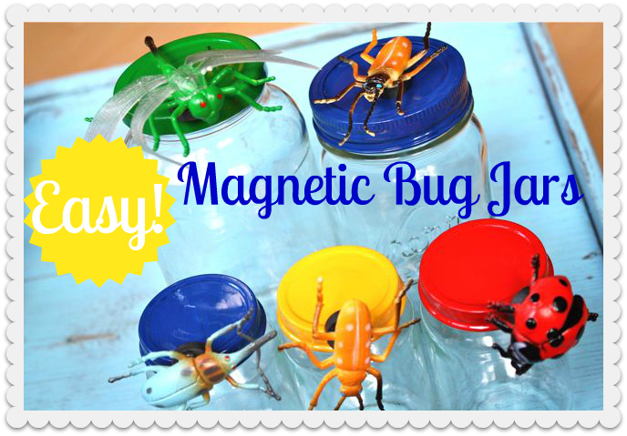 From baby food jars to Magnetic Big Jars. Fun way to organize for kids