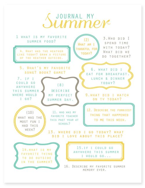 Summer journal - simple as that