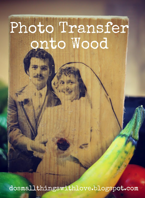 Wood transfer - do small things with love