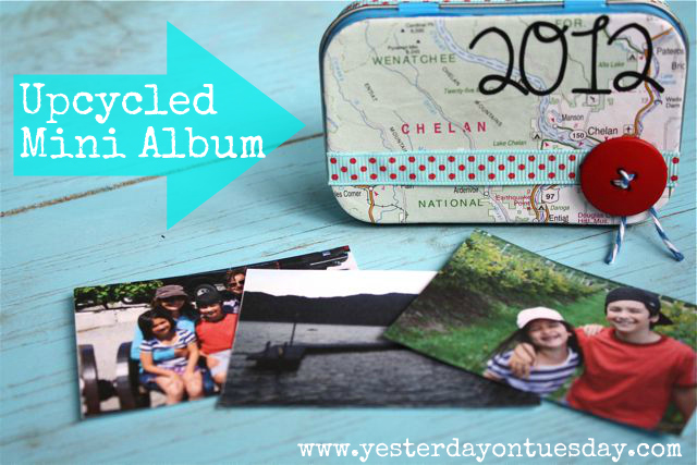Mint Tin Upycled Mini Album - Yesterday on Tuesday
