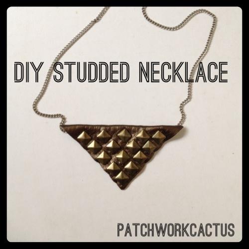 Diy studded necklace