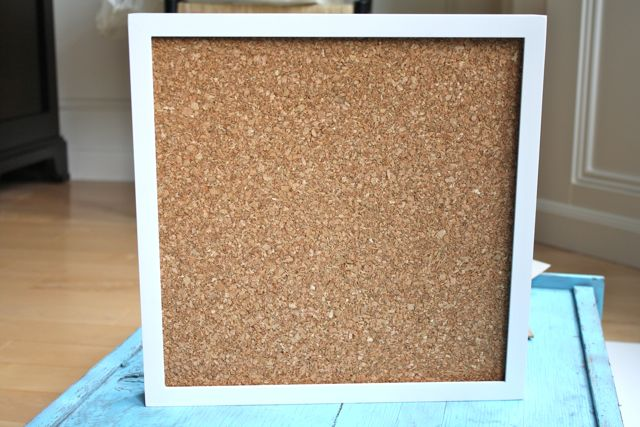 Shadow Box Cork Board - Yesterday on Tuesday