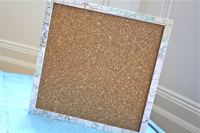 Map Covered Corkboard - Yesterday on Tuesday