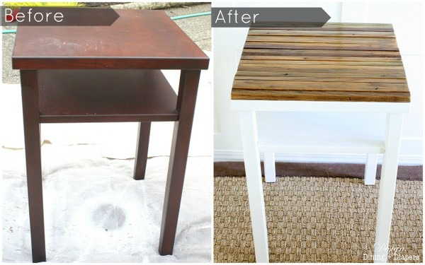 DIY Side Table Makeover - Design, Dining and Diapers