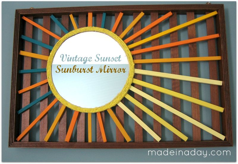 Vintage Sunset Sunburst Mirror