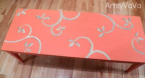 Coral coffee table - artsy vava