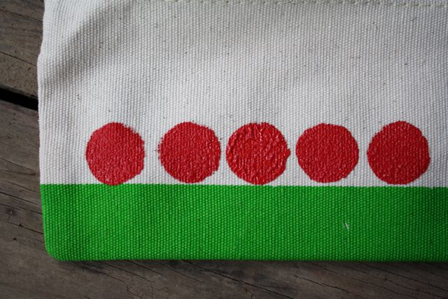 5 Stamped Apples, Apple Stamped Pencil Pouches - YoT