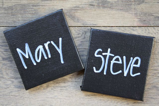 Mini Chalkboard Placecards Maty + Steve - Yesterday on Tuesday