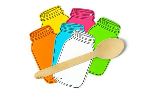 Mason Jar Neon Tags - Todo Papel