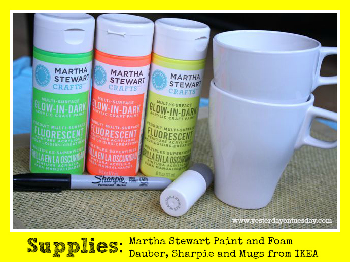 Bright Side Mugs Supplies - Yesterday on Tuesday