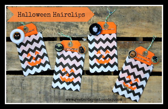 Halloween Hairclips - Yesterday on Tuesday
