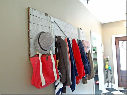 Barn Door Coat Rack