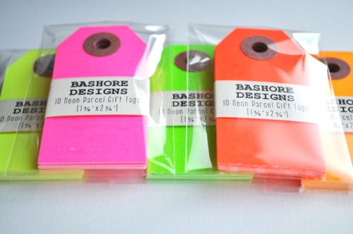 Neon Gift Tags - Bashore Designs