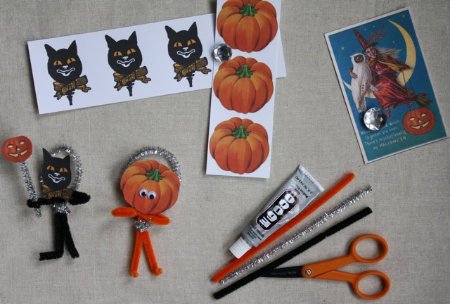 Halloween Pipe Cleaner Craft - Yesterday on Tuesday #halloween