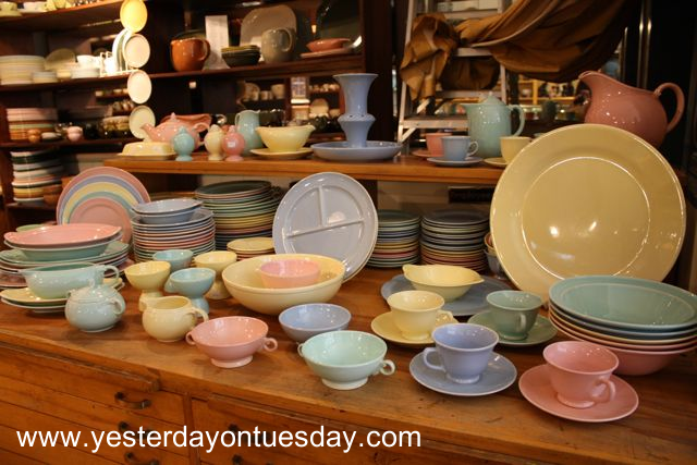 Vintage Pastel Pottery - Yesterday on Tuesday