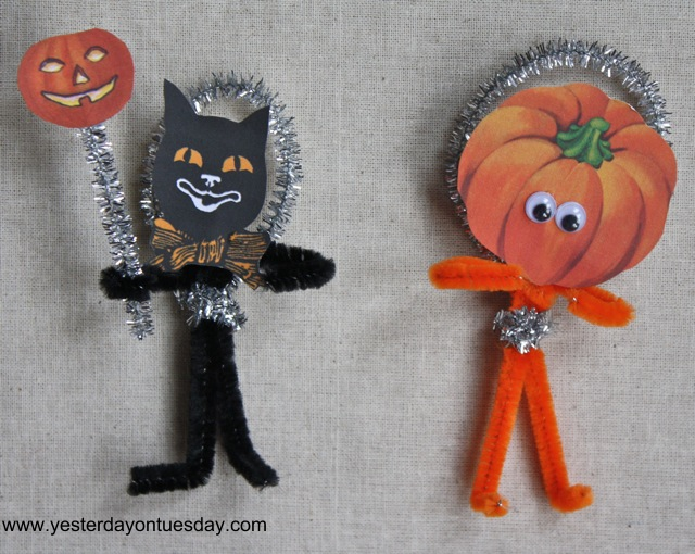 Vintage Halloween Pipe Cleaner Craft