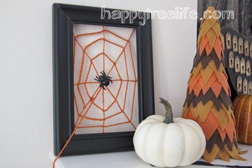 Halloweenmantelspiderweb