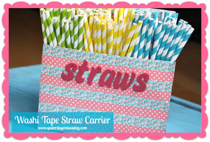 Washi Tape Straw Organization - Yesterday on Tuesday #washi