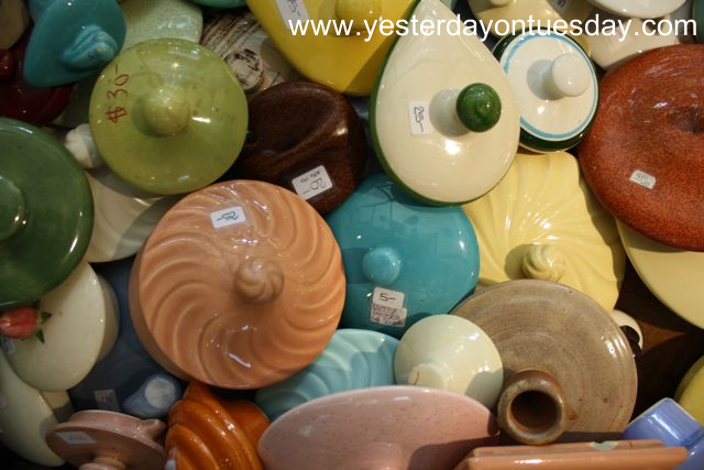 Vintage Pottery Lids - Yesterday on Tuesday